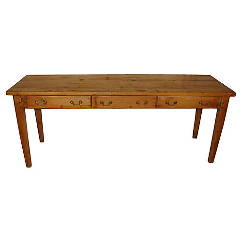 19th-C. Pine Console Table