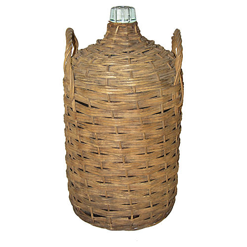 Wicker-Wrapped Demijohn