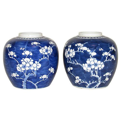 Japanese Ginger Jars, Pair