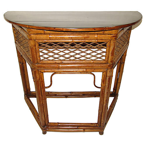 Bamboo Demilune Table