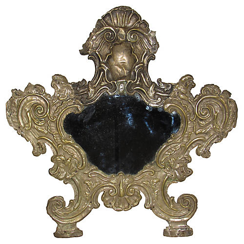 18th-C. Italian Table Mirror