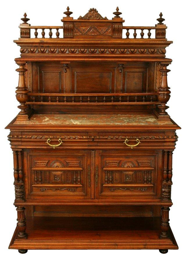 Marble-Top Henri II-Style Server