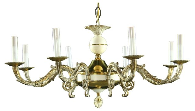 Louis XVI-Style Brass Chandelier