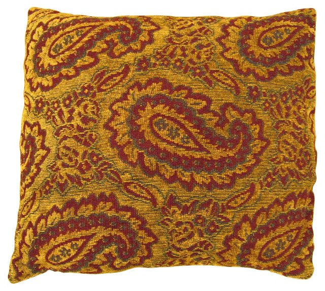 Tapestry Pillow w/ Paisleys