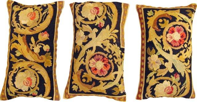 Bessarabian Kilim Pillows, Set of 3