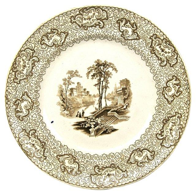 Maryland Florentine Transferware Plate