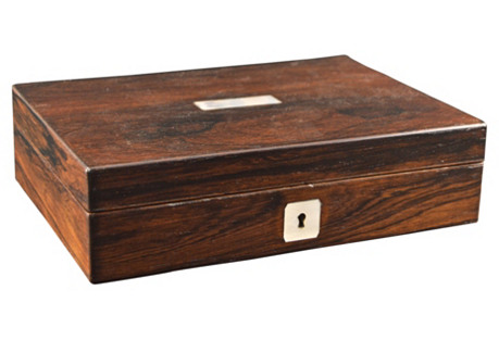 English Rosewood Box, C. 1880