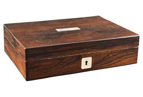English Rosewood Box, C. 1880