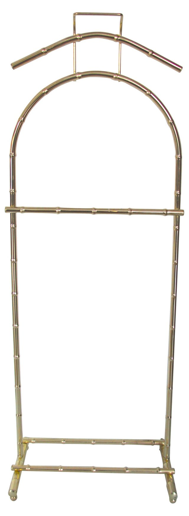Brass-Plated Bamboo-Style Valet Stand