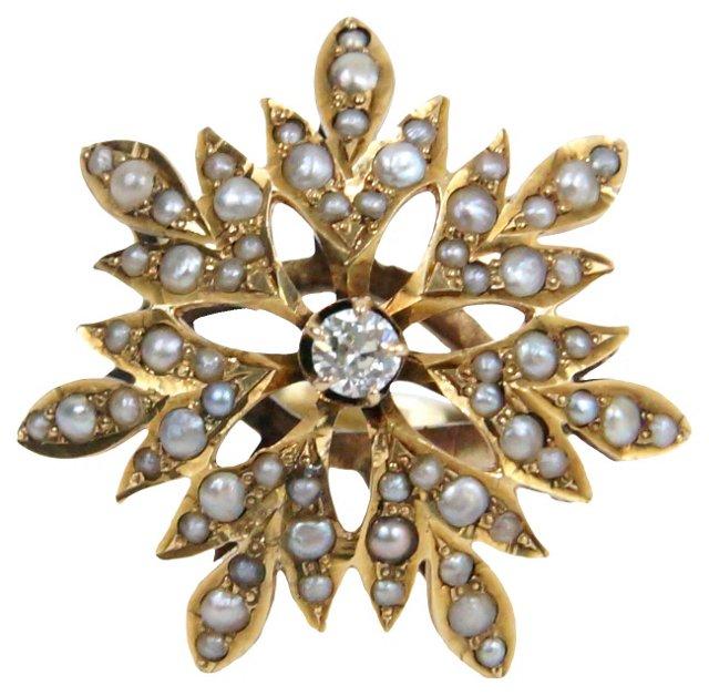 Ring w/ Diamond & Pearls