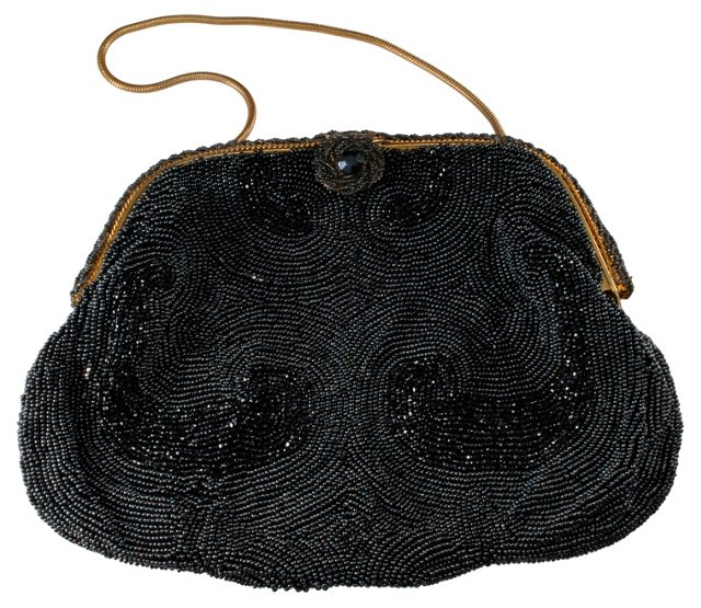 Hand-Beaded French Evening Bag