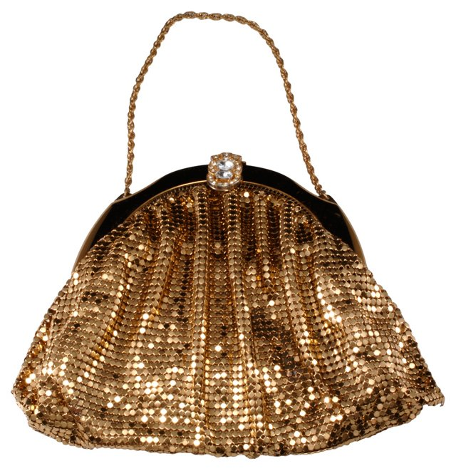 1950s Whiting & Davis Evening Bag