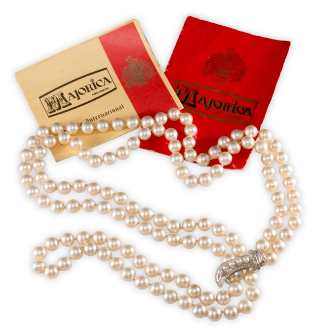 Majorica Convertible Pearl Necklace