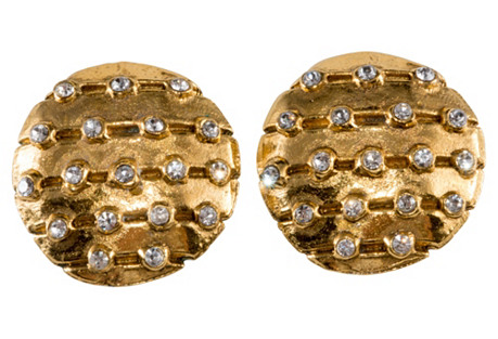 Chanel 1970s Rhinestone Earrings