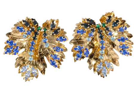 Dior Leaf Earrings