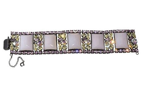 1950s Schauer Purple Glass Bracelet