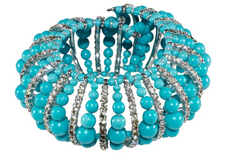 Vendome Turquoise-Glass Bracelet