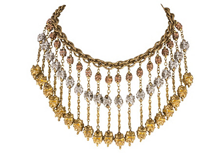 1930s Monet Jewelers Bib Necklace