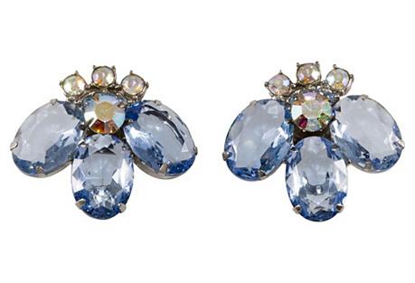 Juliana Blue Rhinestone Earrings