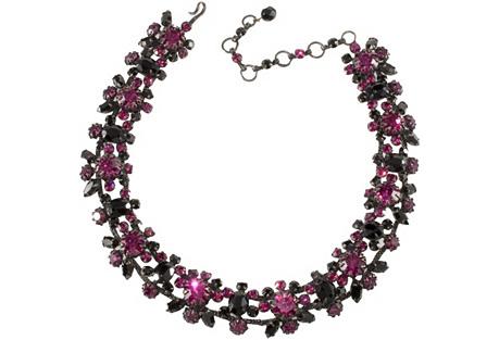 Schreiner Fuchsia & Black Necklace