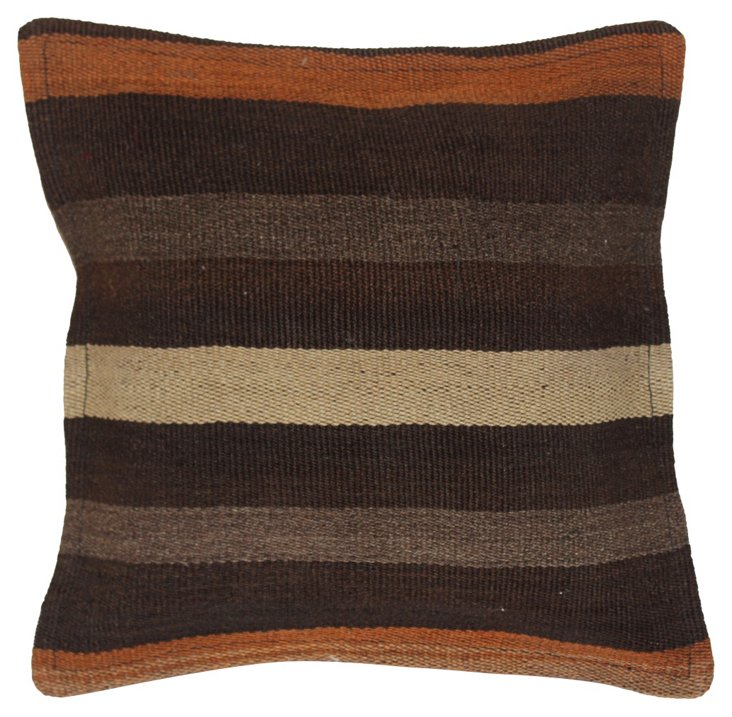 Turkish Neutral Kilim  Pillow