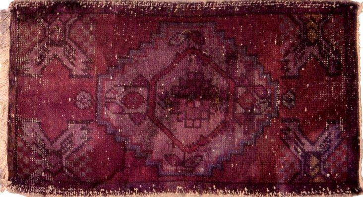 """Purple Anatolian Yastik,1'5"""" x 3'"""