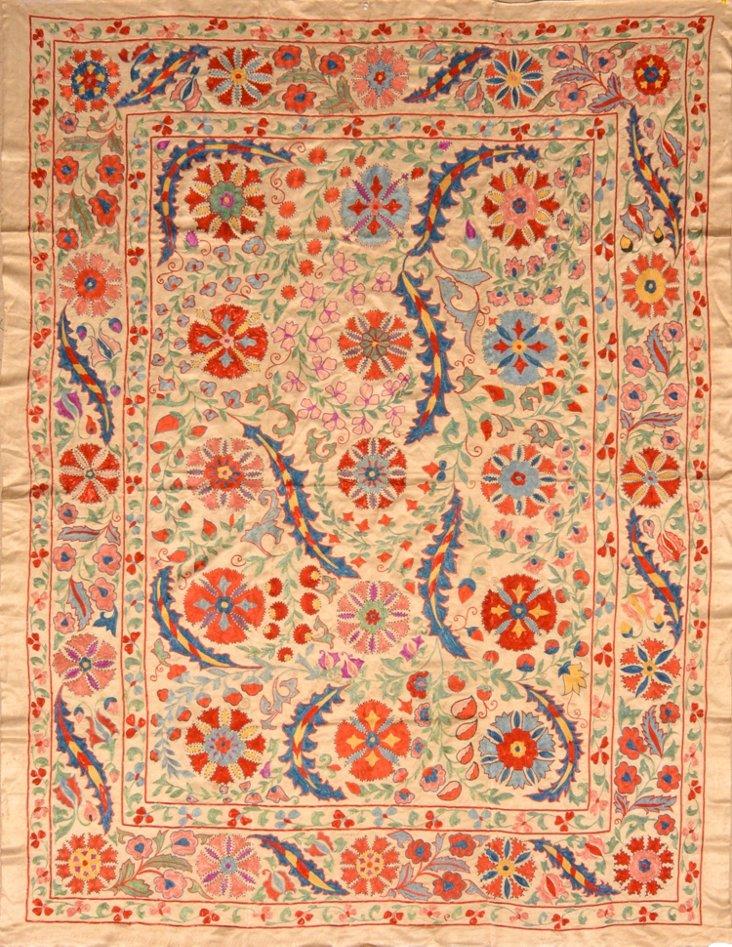 Silk Handmade Uzbek   Suzani