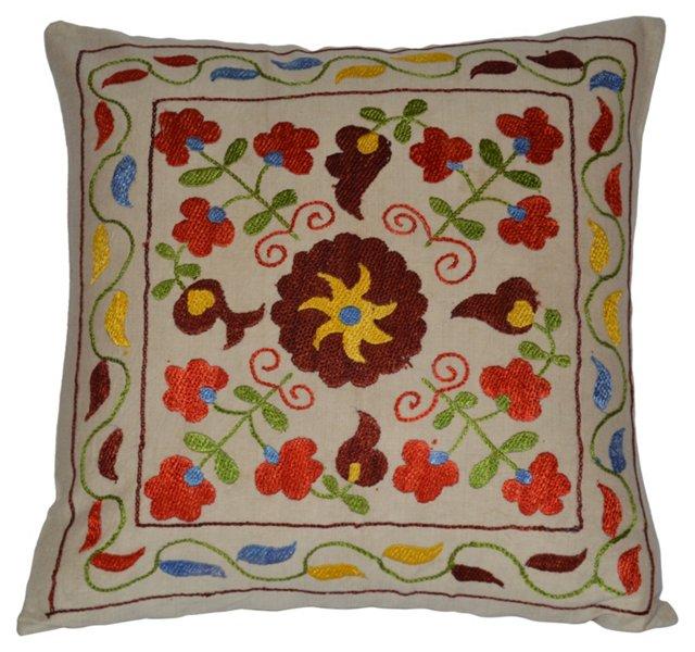 Silk Suzani   Pillow