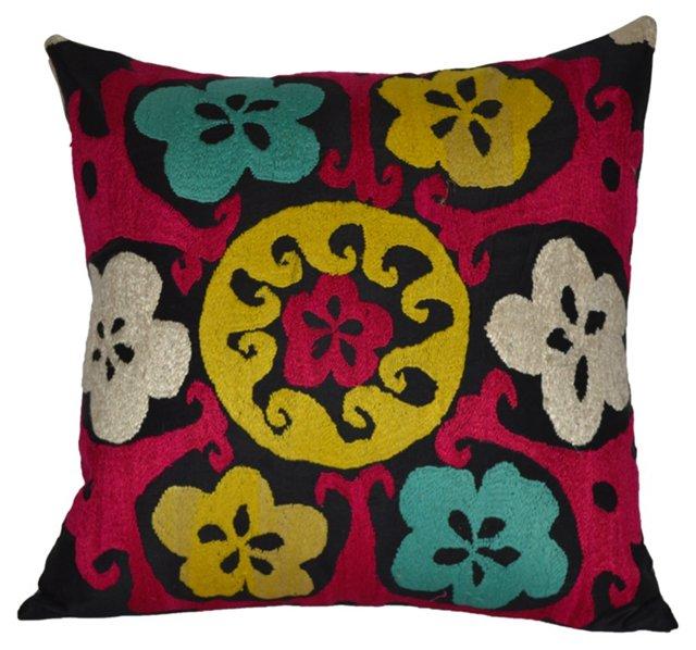 Sunny   Suzani Pillow