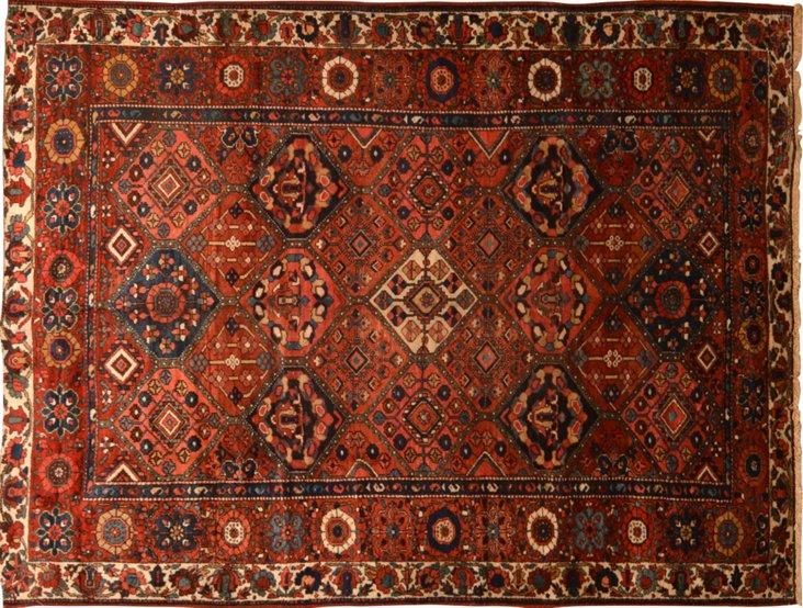"""Antique Persian Rug, 6' x 9'6"""""""