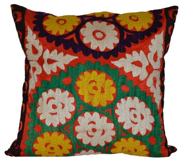 Floral  Uzbek Suzani  Pillow