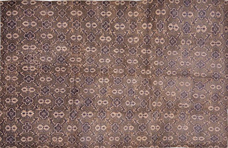 "Turkish Art Deco-Style Rug, 6'7"" x 10'6"""