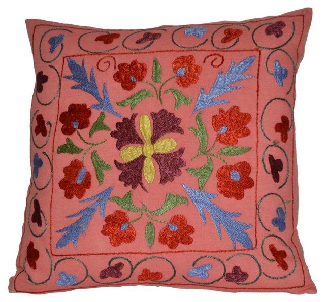 Handmade Silk Suzani Pillow