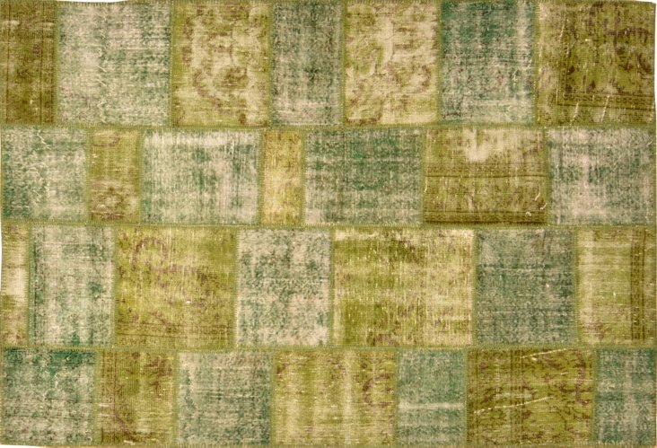 """Overdyed Patchwork Rug, 5'11"""" x 8'10"""""""