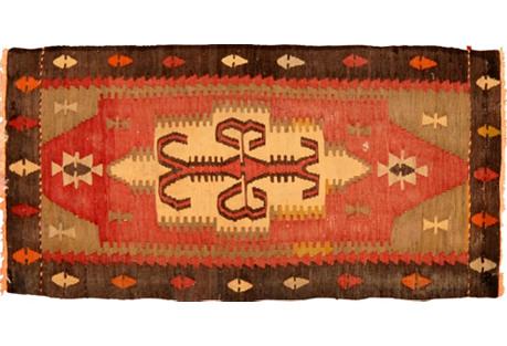 Turkish Flat-Weave Rug, 1'9
