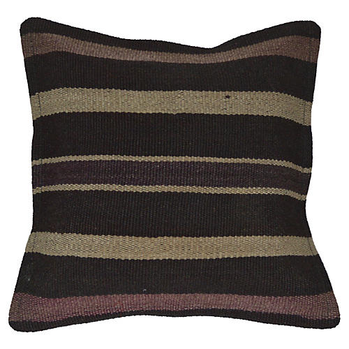 Black Handmade Kilim Pillow