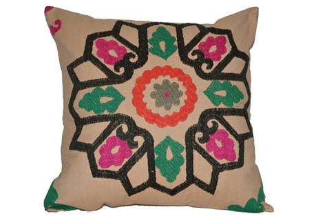 Rose Window Suzani Pillow