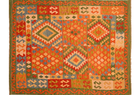 Afghan Kilim,5' x 6'9