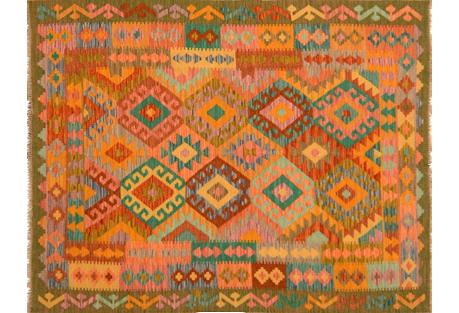 Afghan Kilim, 5' x 6'7