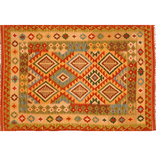 Afghan Kilim, 4' x 6'