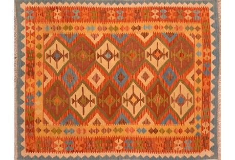 Afghan Kilim, 4'10