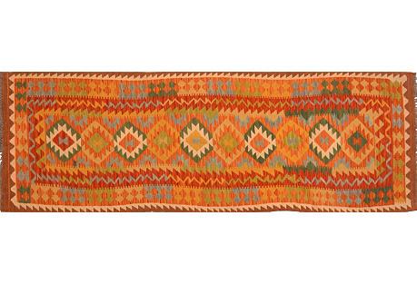 Afghan Kilim, 3' x  9'8