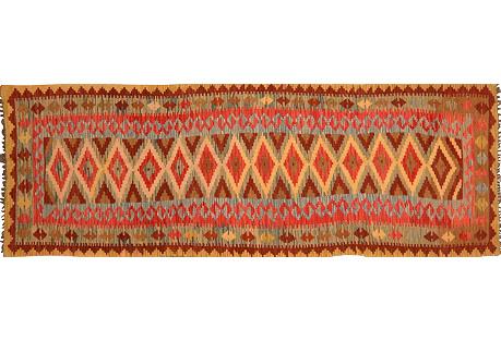 Afghan Kilim, 3' x 10'