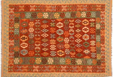 Afghan Kilim, 4'8