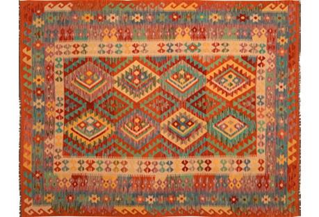 Afghan Kilim, 6'8