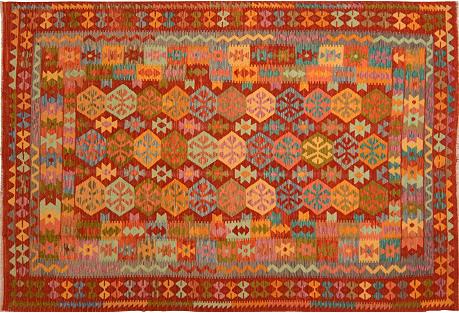 Afghan Kilim, 6'7