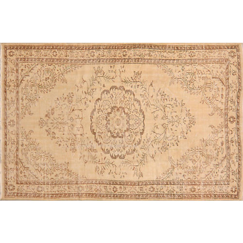 Turkish Whitewashed Rug, 6' x 9'6""