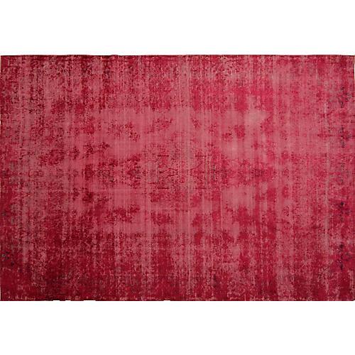 "Persian Overdyed Carpet, 9'6"" x 14'"
