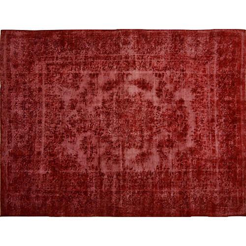 "Persian Overdyed Carpet, 9'3"" x 12'3"""