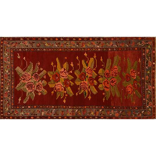 Floral Karabagh Rug, 4'10'' x 9'4''